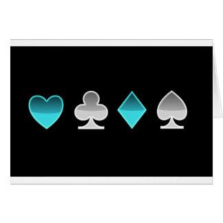 heart clover square pricks card