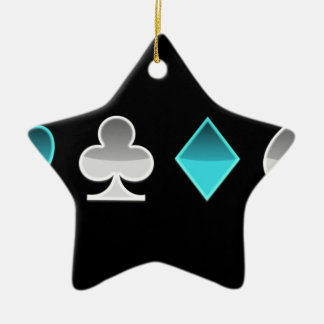 heart clover square pricks ceramic ornament