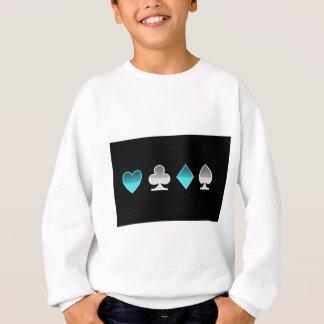 heart clover square pricks sweatshirt