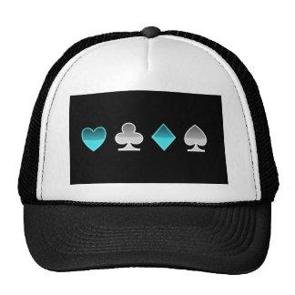 heart clover square pricks trucker hat