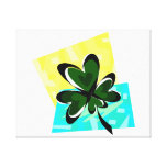 heart clover yellow blue box saint patrick.png stretched canvas prints