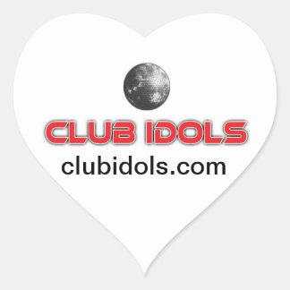 heart clubidols.com sticker