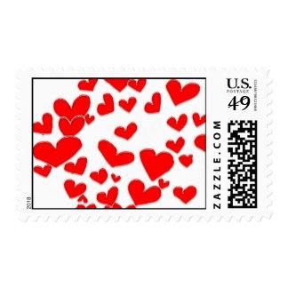 Heart Cluster Postage Stamp