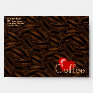 Heart Coffee Envelopes