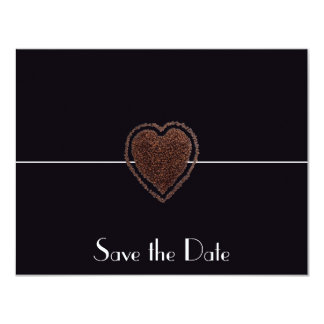 Heart Coffee Modern Save the Date Elegant Vintage Card