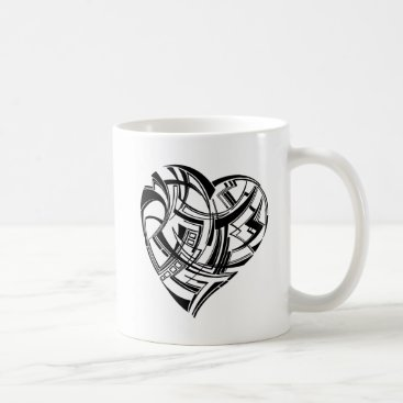 Aztec Themed Heart Coffee Mug