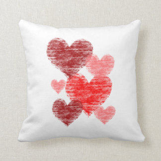 Heart Collage Throw Pillow