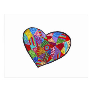 Heart Collage Postcard