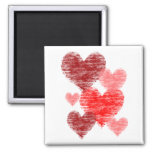 Heart Collage Refrigerator Magnet
