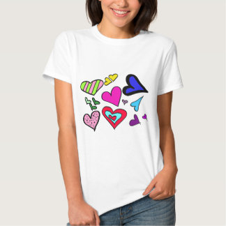 Heart Collage T Shirt