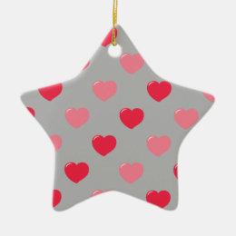 Heart collection ceramic ornament