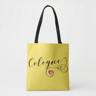 Heart Cologne Grocery Bag, Köln Flag Tote Bag