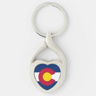 Heart Colorado key chain