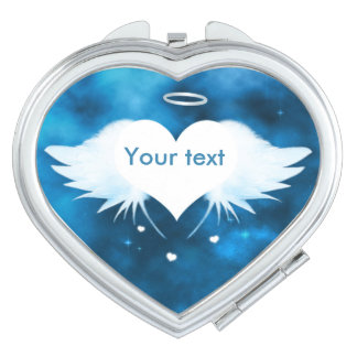 Heart Compact Mirror - Angel of the Heart
