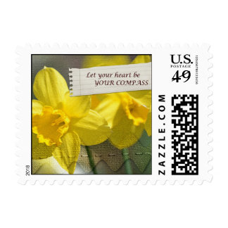 Heart Compass Daffodils Postage