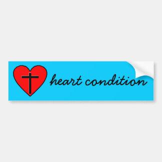 heart condition car bumper sticker