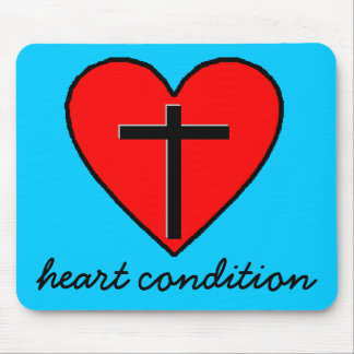 heart condition mouse pad