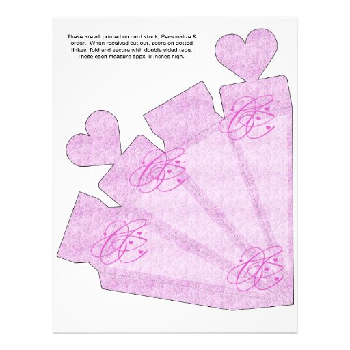 Heart Cone Box Party Favor box.  Birthday Parties Flyers