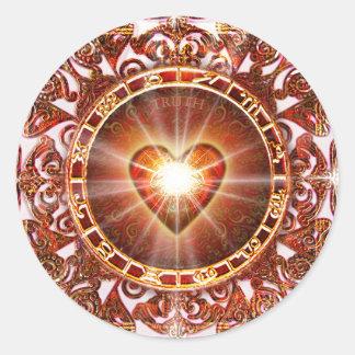 Heart Constellation Classic Round Sticker