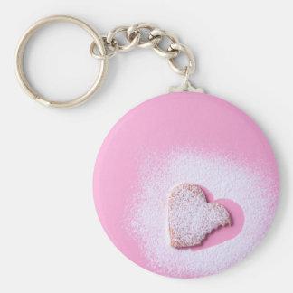 Heart cookie biten keychain