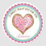 Heart Cookie with Sprinkles Stickers