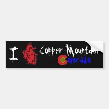Heart Copper Mountain Colorado bumperflare Bumper Sticker