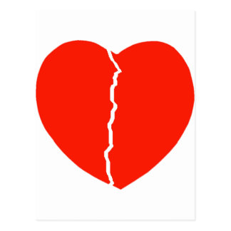 Heart Crack Postcard