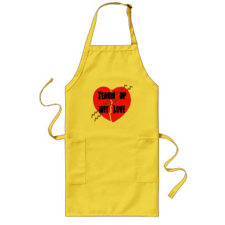 Heart Crack Tire Track - Customized Long Apron