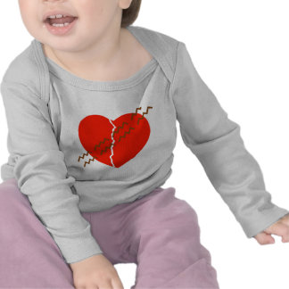 Heart Crack Tire Track Shirts