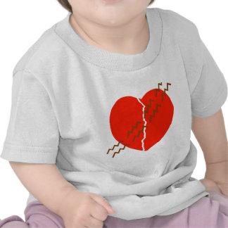 Heart Crack Tire Track Shirt
