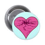 heart crak pinback buttons