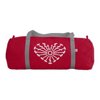 Heart Crochet Chart Pattern Duffle Bag