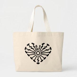 Heart Crochet Chart Pattern Large Tote Bag