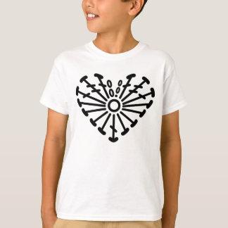 Heart Crochet Chart Pattern T-Shirt
