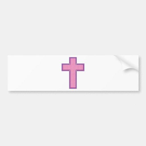 Heart Cross Bumper Sticker