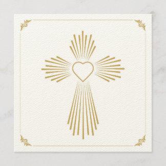heart cross invitation