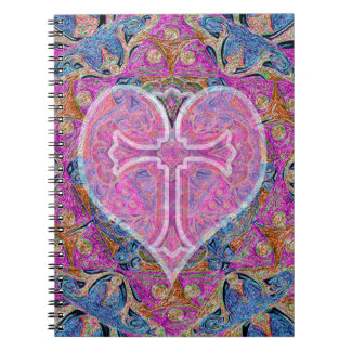Heart Cross Pattern by Amelia Carrie Note Books