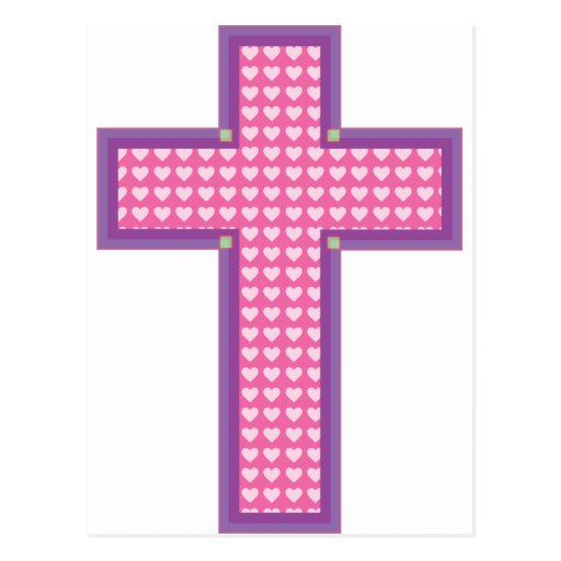 Heart Cross Postcard
