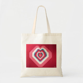 Heart Cross Stitch Print Bag by Julia Hanna