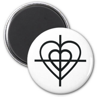 heart crosshairs magnet