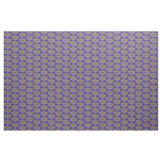 Heart Crown Tiara fabric repeat pattern iris bkgd