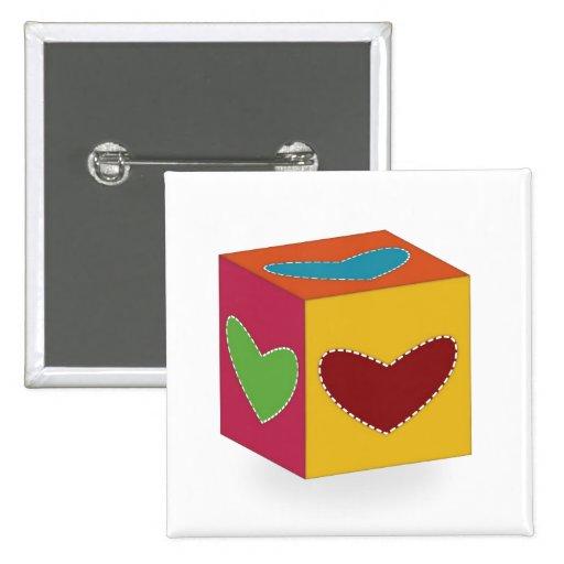 Heart Cube Pins