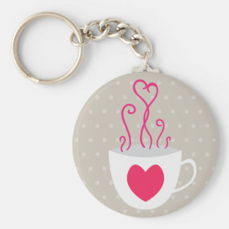 Heart Cup of Love Keychain