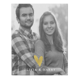 Heart Custom Photo - Faux Wrapped Canvas Print