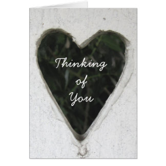 Heart Customize Text Message Note / Greeting Card