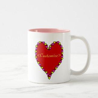 Heart Customized Two-Tone Coffee Mug