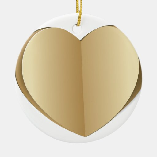 Heart cut out of paper ceramic ornament  Zazzle