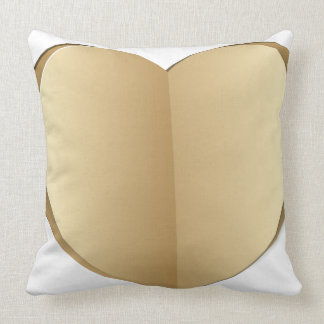 Heart cut out of paper throw pillow