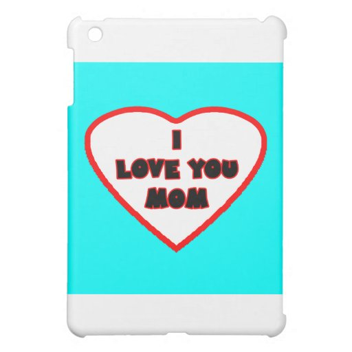 Heart Cyan Transp Filled The MUSEUM Zazzle Gifts iPad Mini Covers