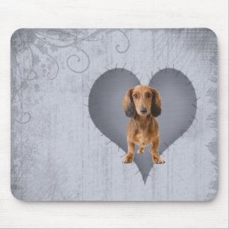 Heart Dachshund Mouse Pad